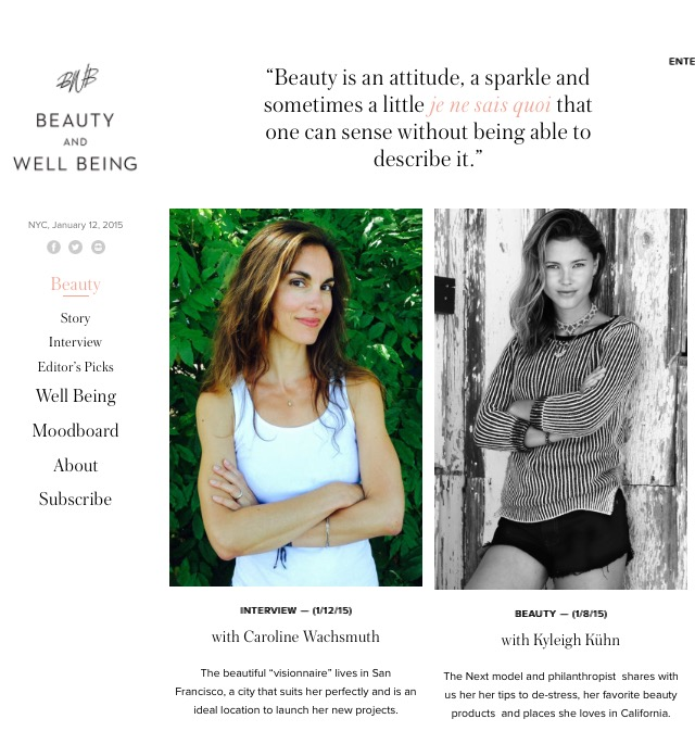 Beauty and wellbeing